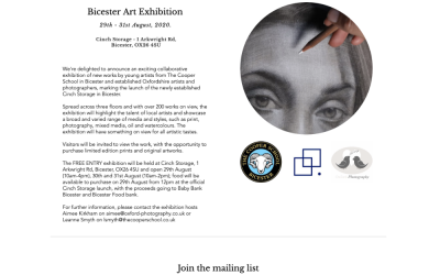 Bicester Art Exhibition 29th – 31st August, 2020.