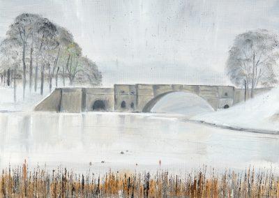 The Grand Bridge in the Snow – Blenheim series